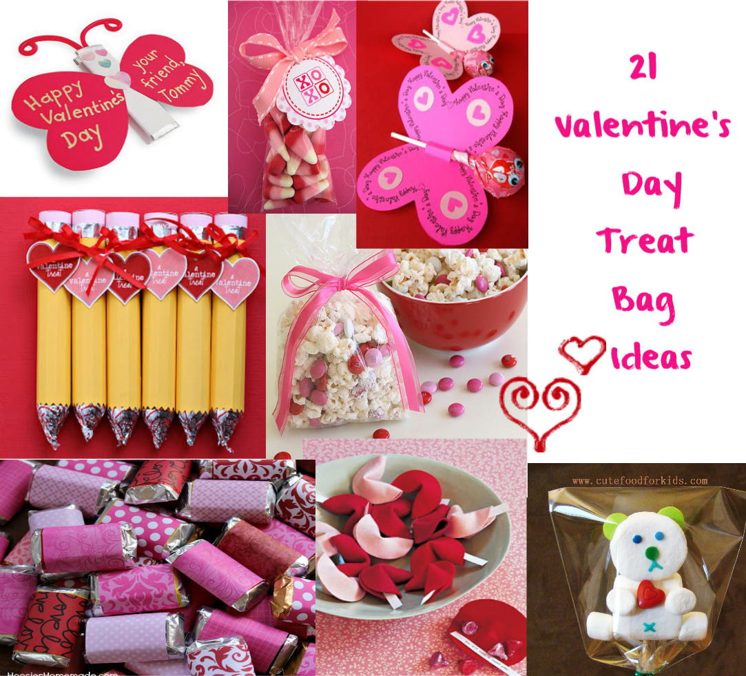 Valentines Gift Bag Ideas  Cute Food For Kids Valentine s Day Treat Bag Ideas