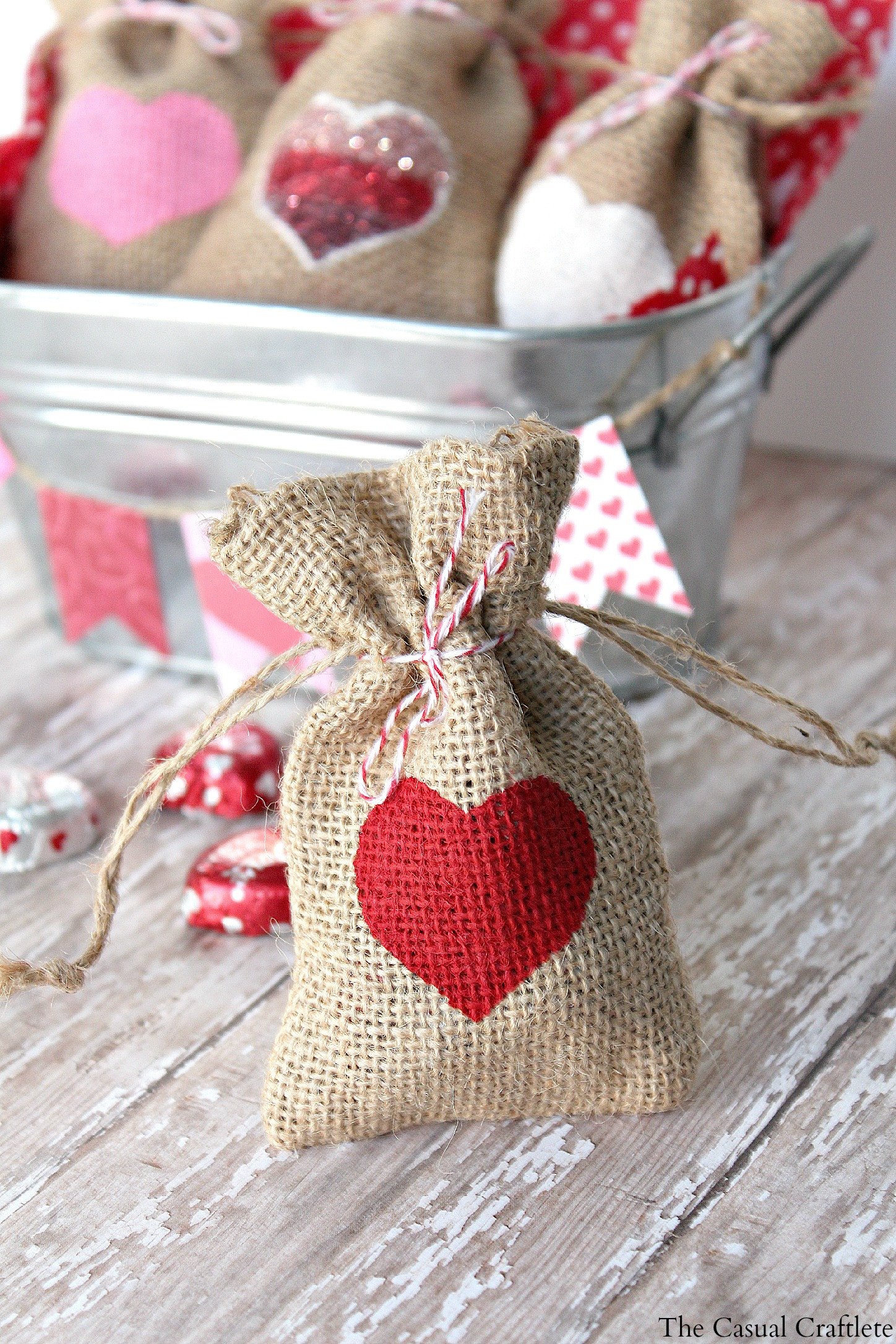 Valentines Gift Bag Ideas  DIY Valentine s Day Burlap Gift Bags