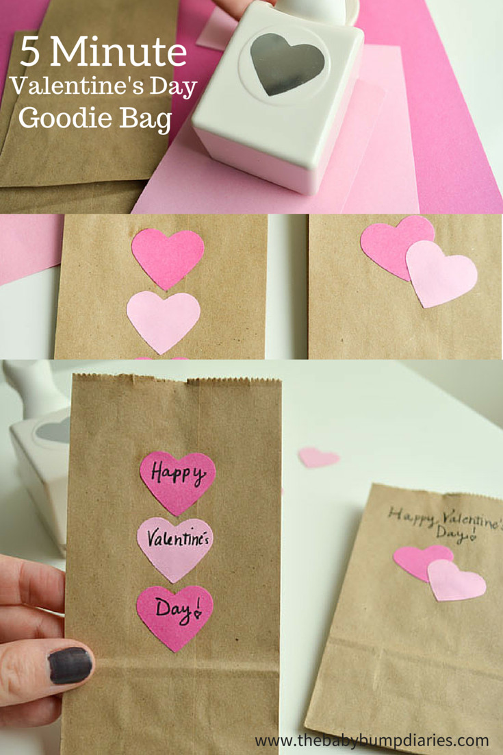 Valentines Gift Bag Ideas  5 Minute Valentine s Day Goo Bag The Baby Bump Diaries