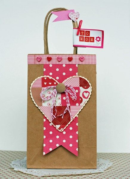 Valentines Gift Bag Ideas  idea for a t bag Ideas para fiestas