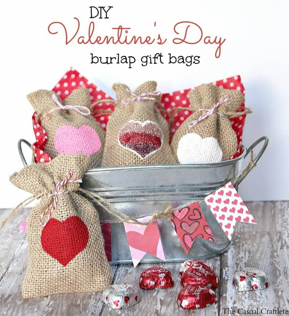 Valentines Gift Bag Ideas  20 Handmade Valentine s Ideas Link Party Features I