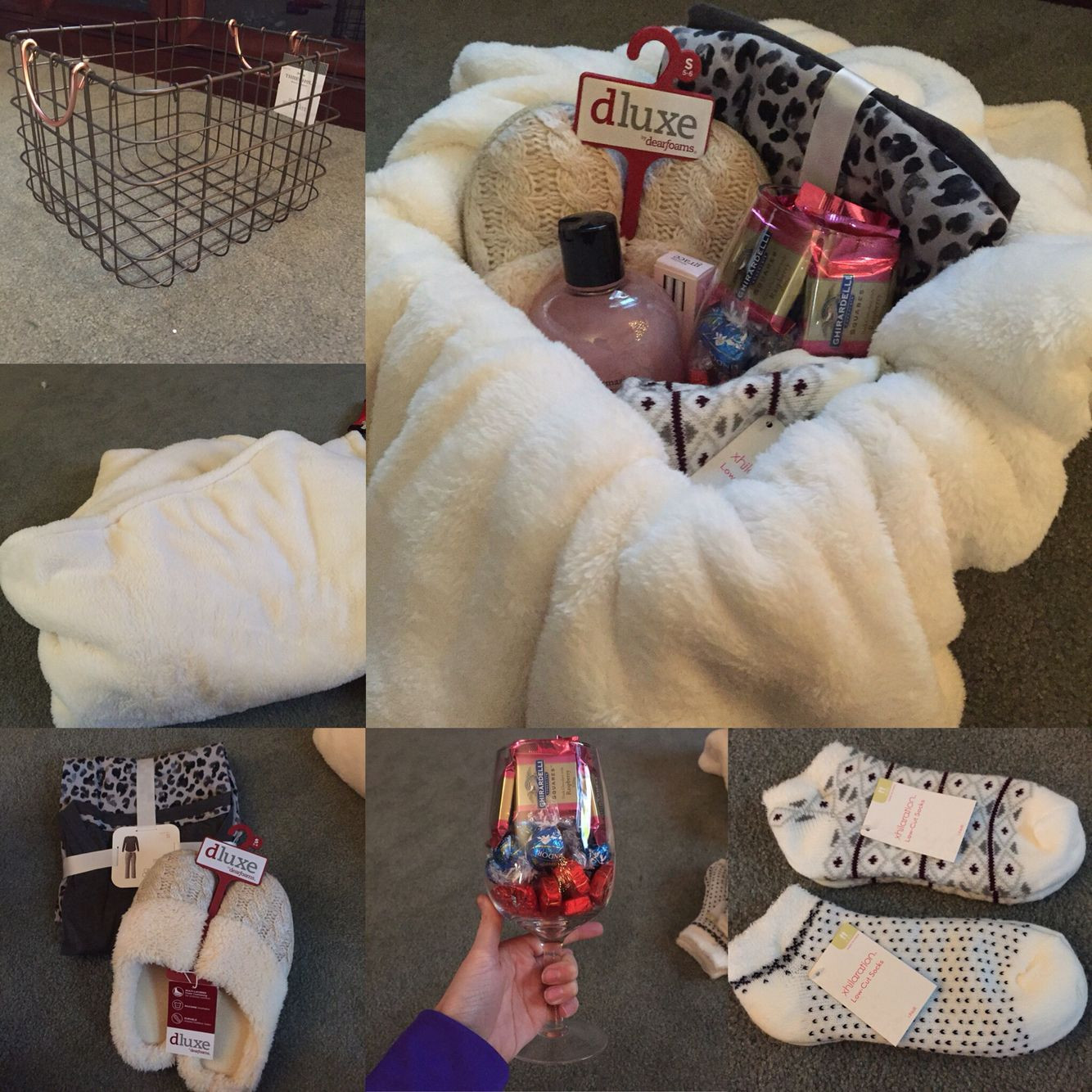 Warm And Cozy Gift Basket Ideas  Cozy t basket I made for my mom this Christmas Cute