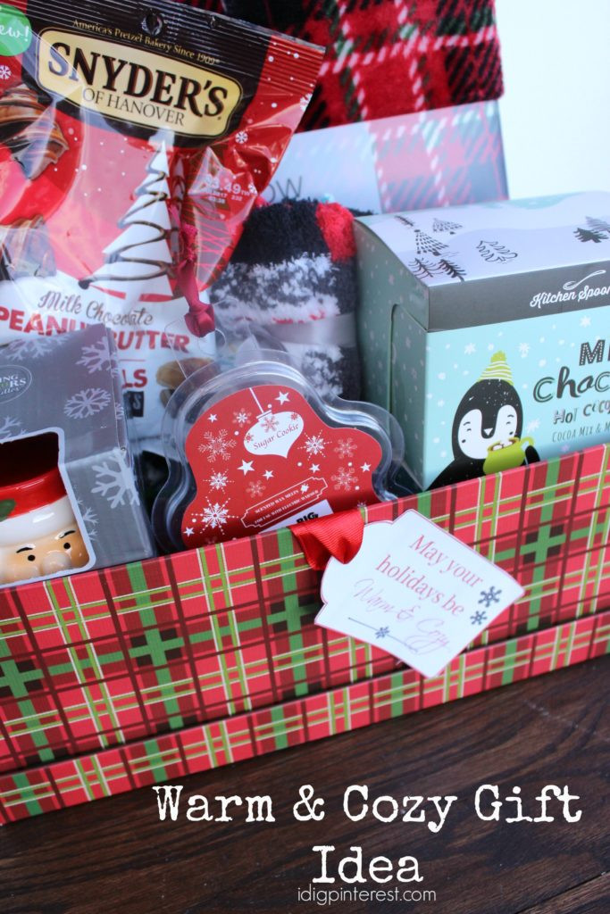 Warm And Cozy Gift Basket Ideas  Warm & Cozy Gift Idea I Dig Pinterest