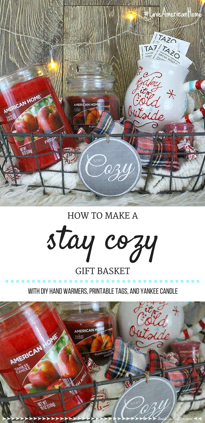 "Warm And Cozy Gift Basket Ideas  ""Stay Cozy"" Gift Basket Inside the Fox Den"
