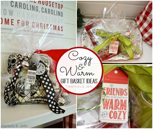 Warm And Cozy Gift Basket Ideas  Warm and Cozy Gift Basket Ideas and Free Printable Holiday