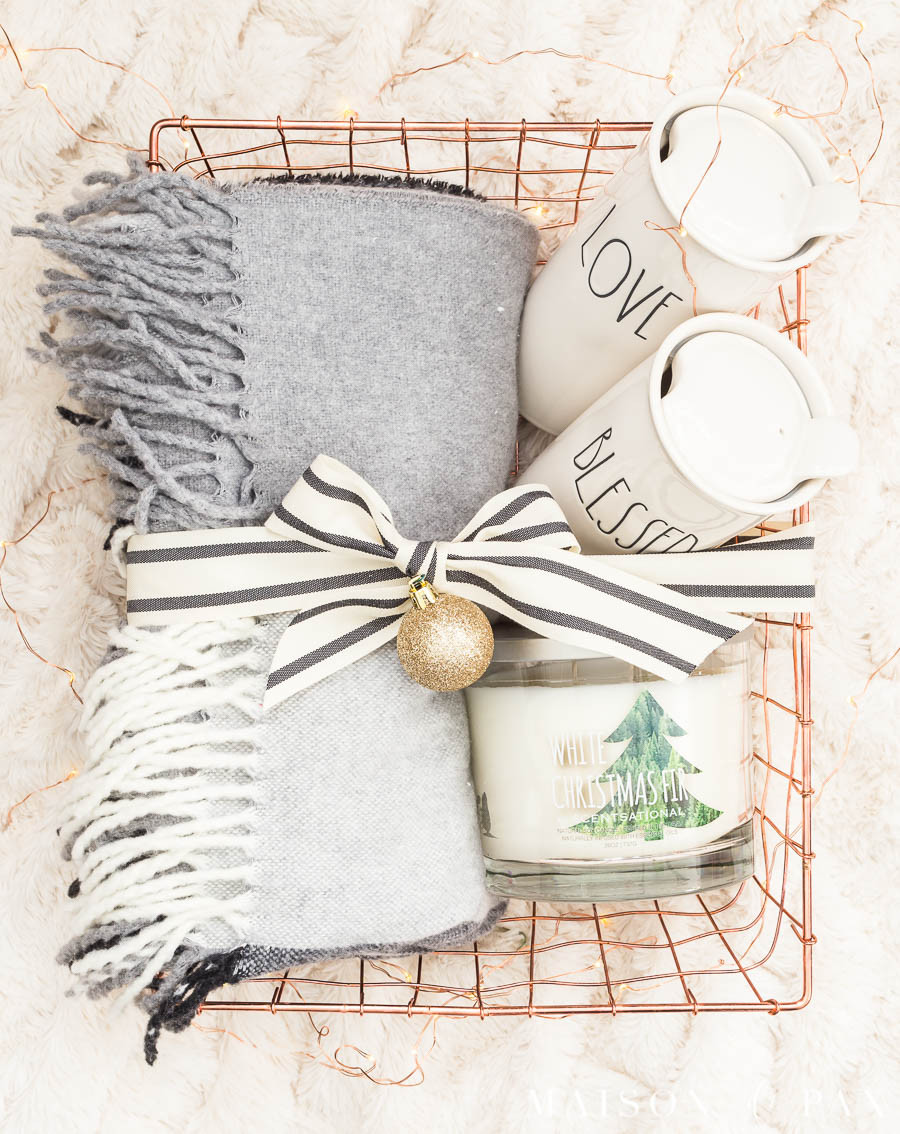 Warm And Cozy Gift Basket Ideas  Easy Gift Basket Ideas for the Holidays Maison de Pax