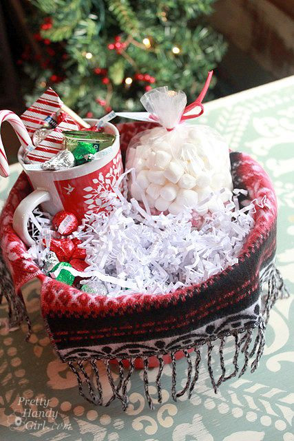 Warm And Cozy Gift Basket Ideas  items for hot chocolate lovers t basket