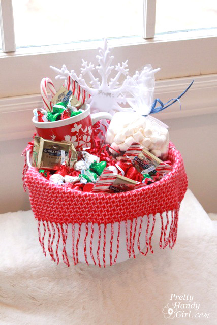 Warm And Cozy Gift Basket Ideas  Warm & Cozy Chocolate Gift Basket DIY Gift Link Party