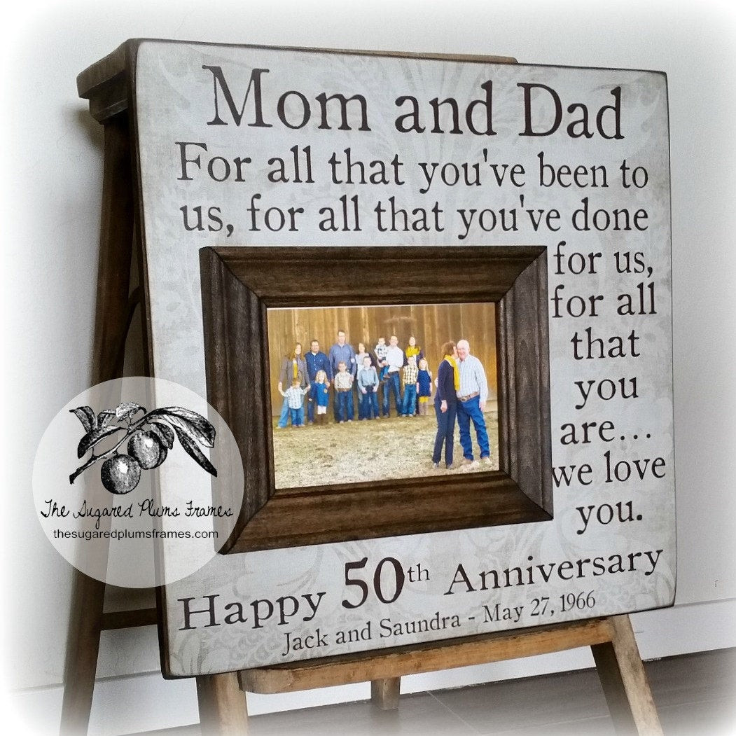 Wedding Anniversary Gift Ideas For Parents  50 Anniversary Gifts Parents Anniversary Gift For All That