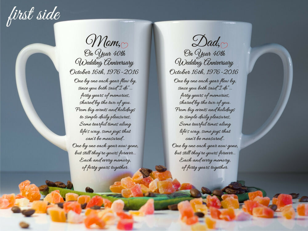 Wedding Anniversary Gift Ideas For Parents  Parents wedding anniversary t 20th 30th 50th