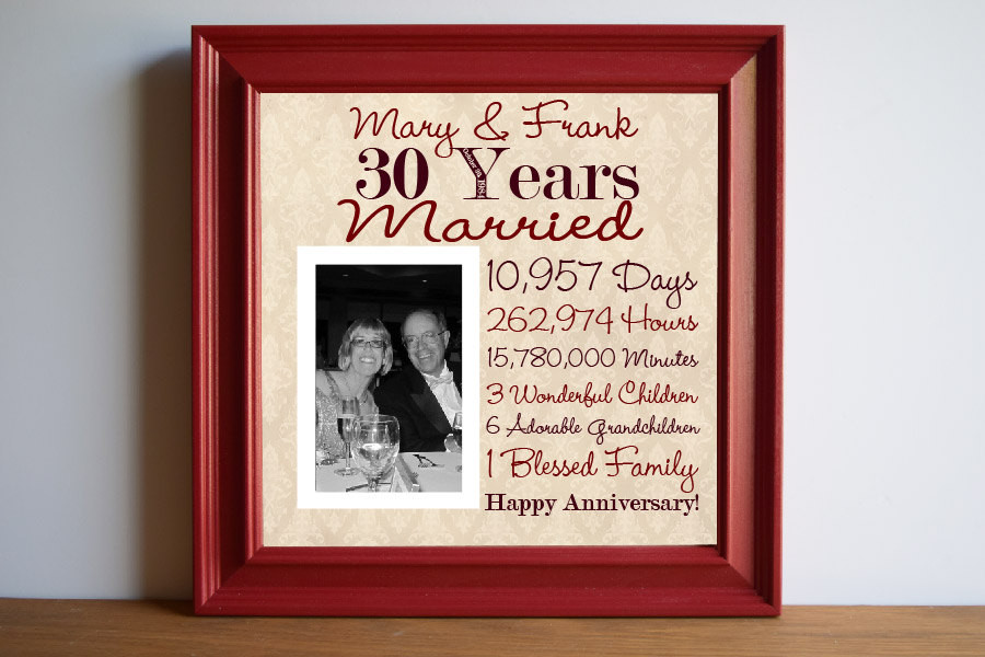 Wedding Anniversary Gift Ideas For Parents  30th Wedding Anniversary Gift Ideas