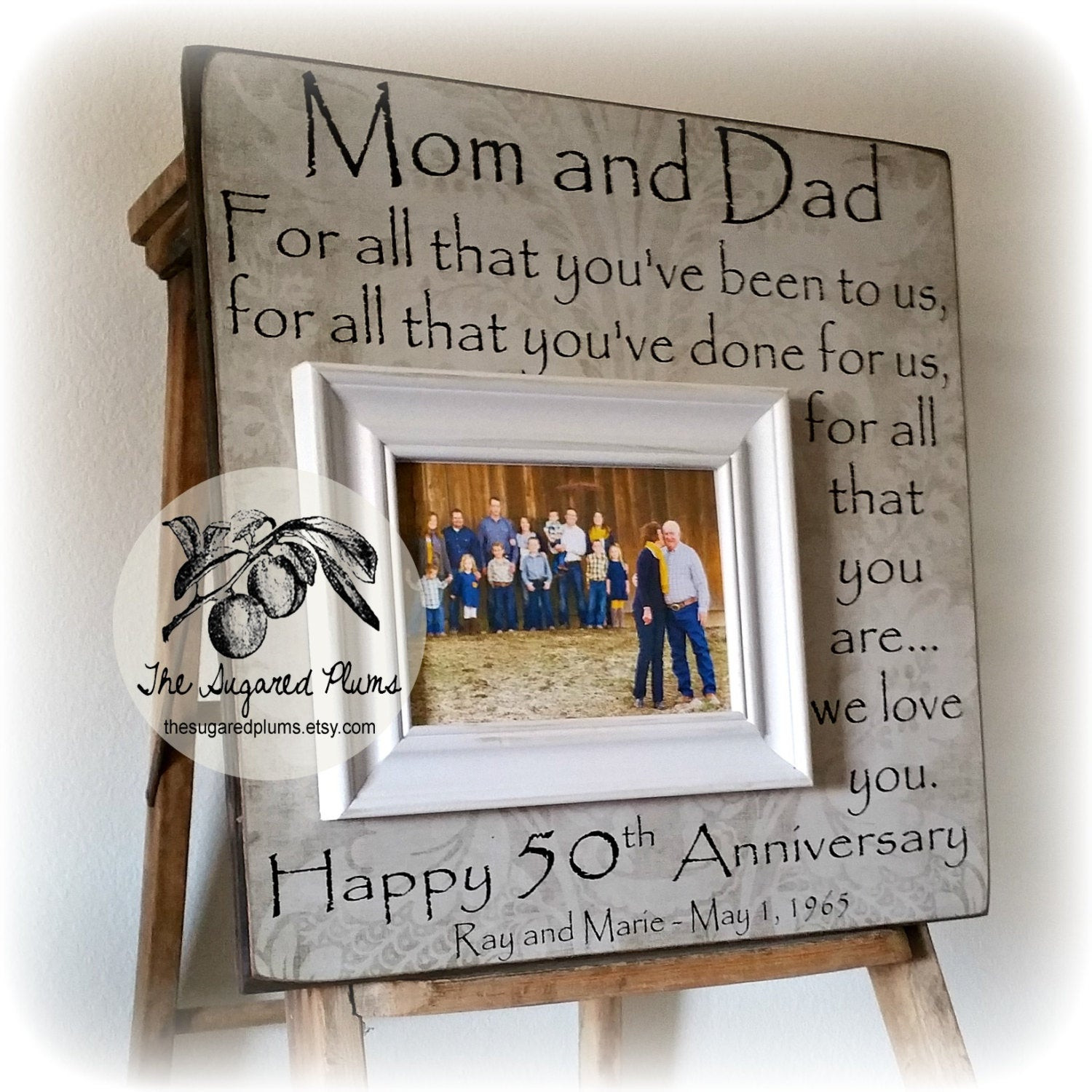 Wedding Anniversary Gift Ideas For Parents  50th Anniversary Gifts Parents Anniversary Gift by