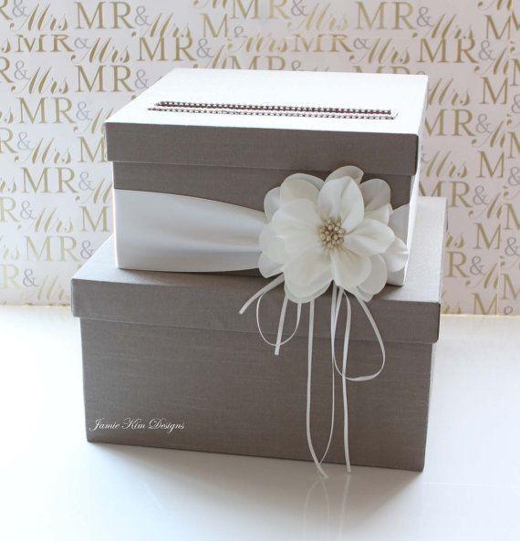 Wedding Card Box DIY  Wedding Card Box Wedding Money Box Gift Card Box Custom