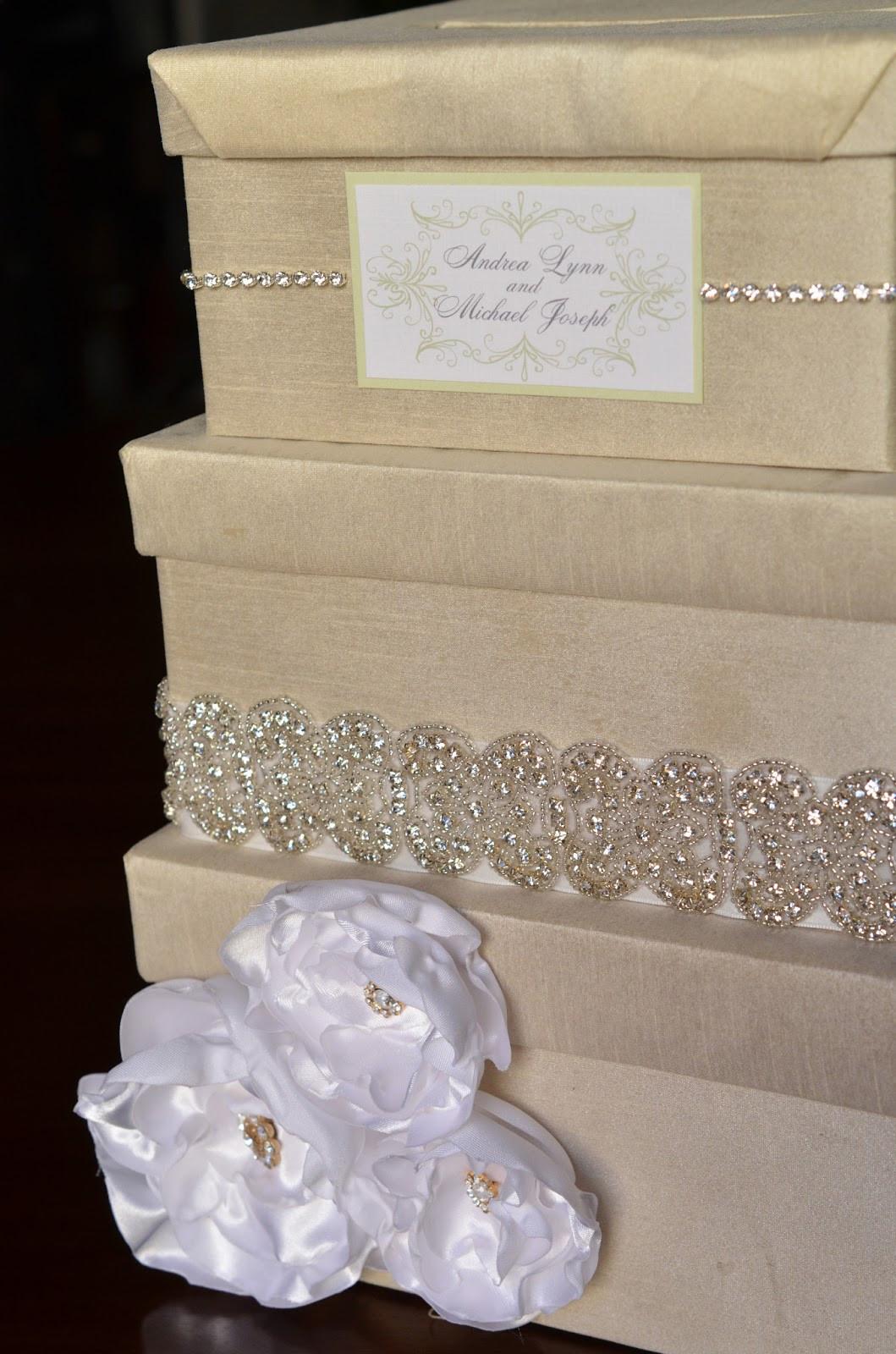 Wedding Card Box DIY  DIY Wedding Card Box Tutorial Andrea Lynn HANDMADE