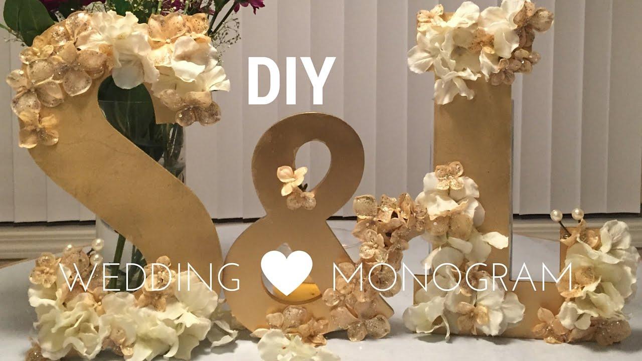 Wedding Decor DIY  DIY Wedding Decorations WOODEN MONOGRAM SET tutorial