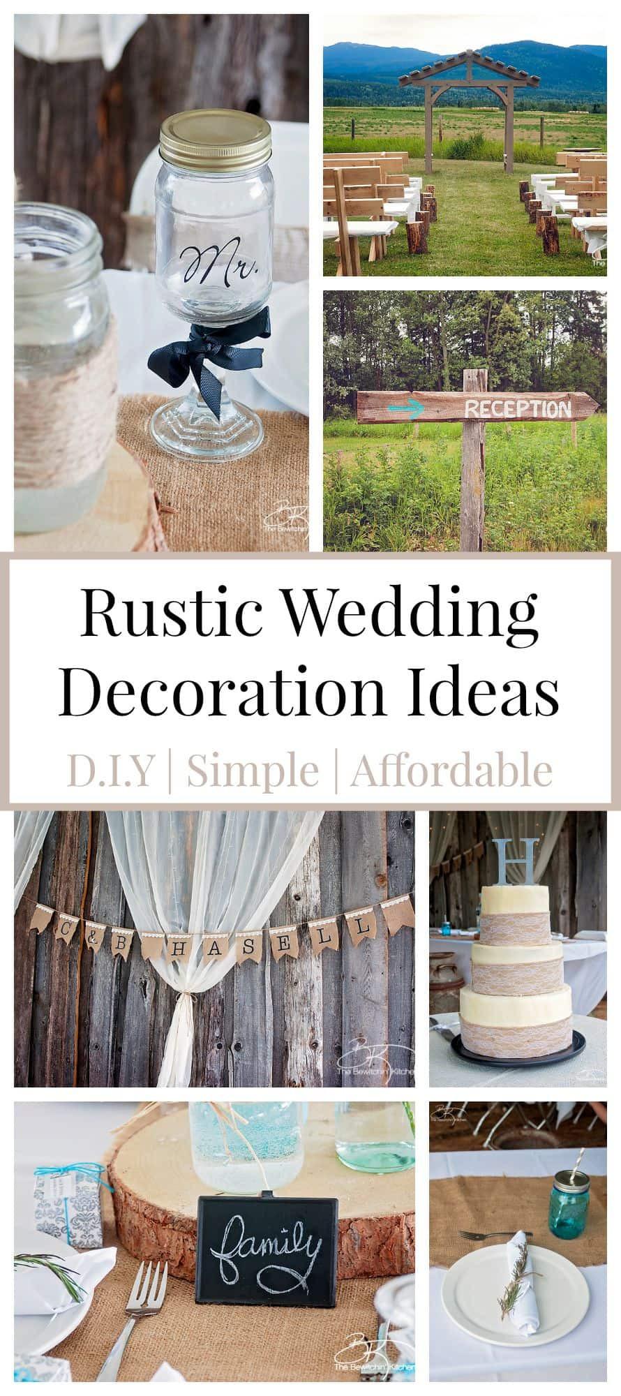 Wedding Decor DIY  Rustic Wedding Ideas That Are DIY & Affordable