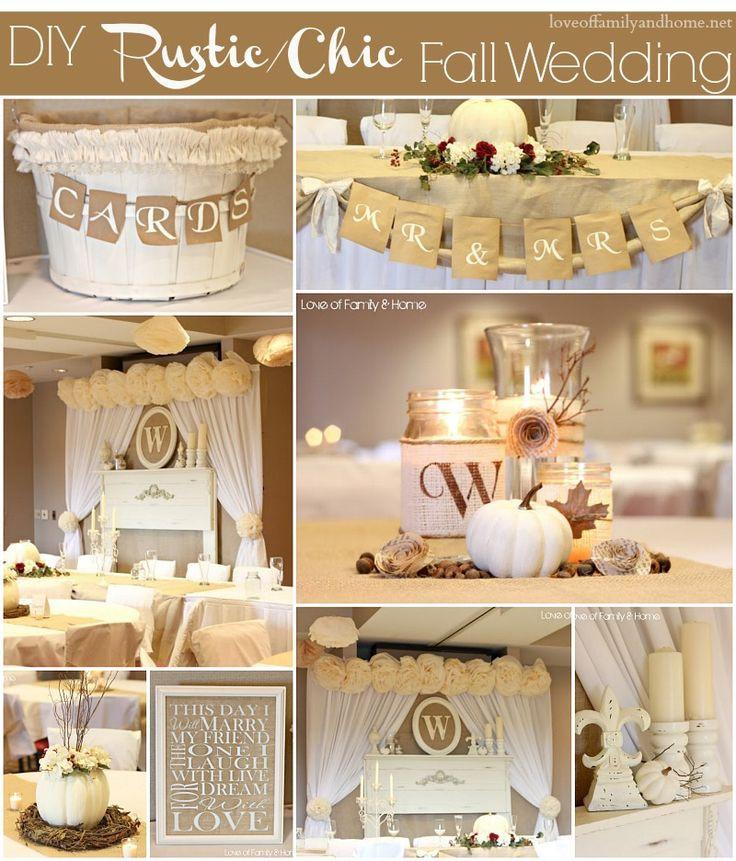 Wedding Decor DIY  DIY Rustic Chic Fall Wedding