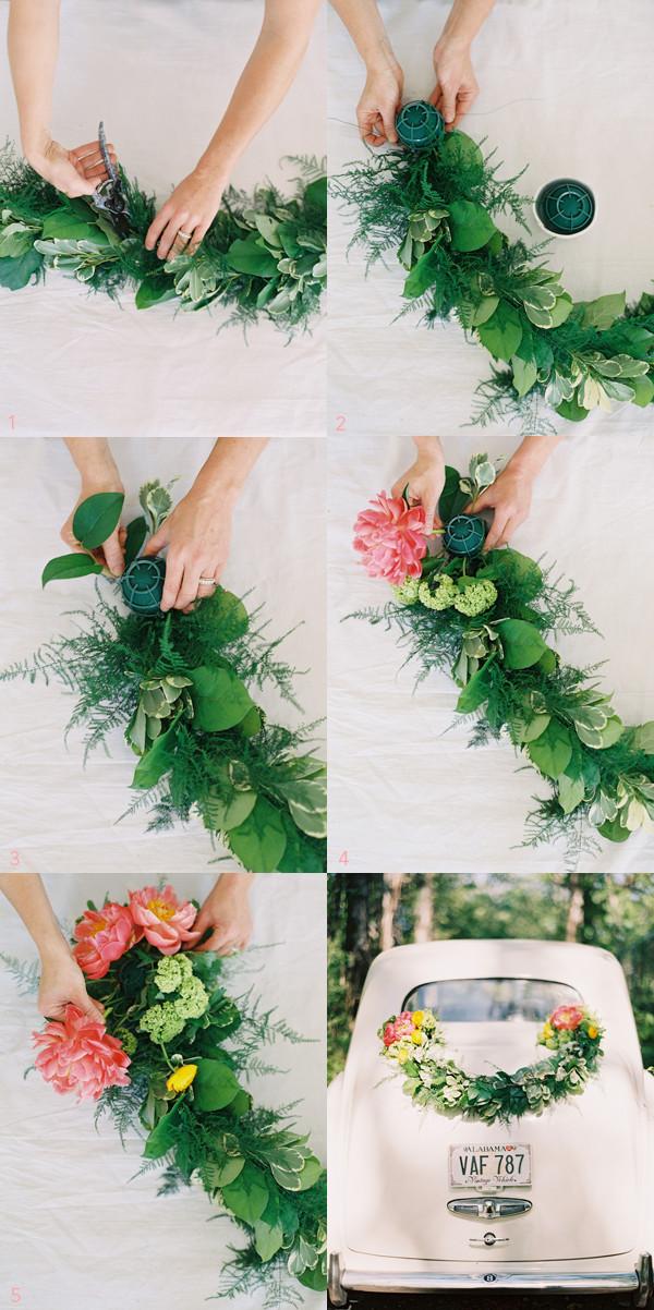 Wedding Decor DIY  DIY Wedding Getaway Garland ce Wed