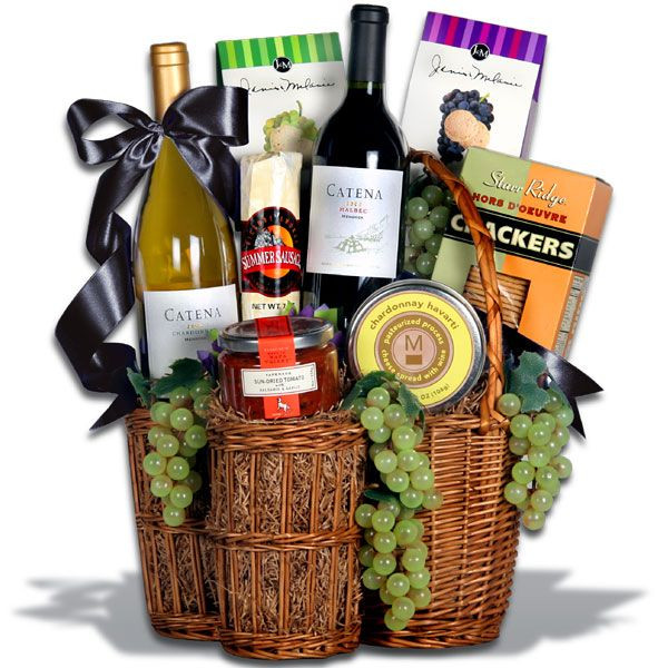 Wine Basket Gift Ideas  46 best Gift Baskets images on Pinterest