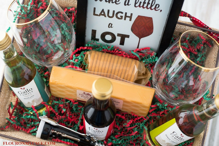 Wine Basket Gift Ideas  DIY Wine Gift Basket Ideas Flour My Face