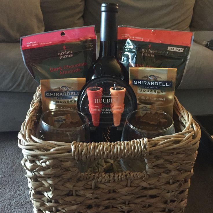 Wine Basket Gift Ideas  Best 25 Wine baskets ideas on Pinterest