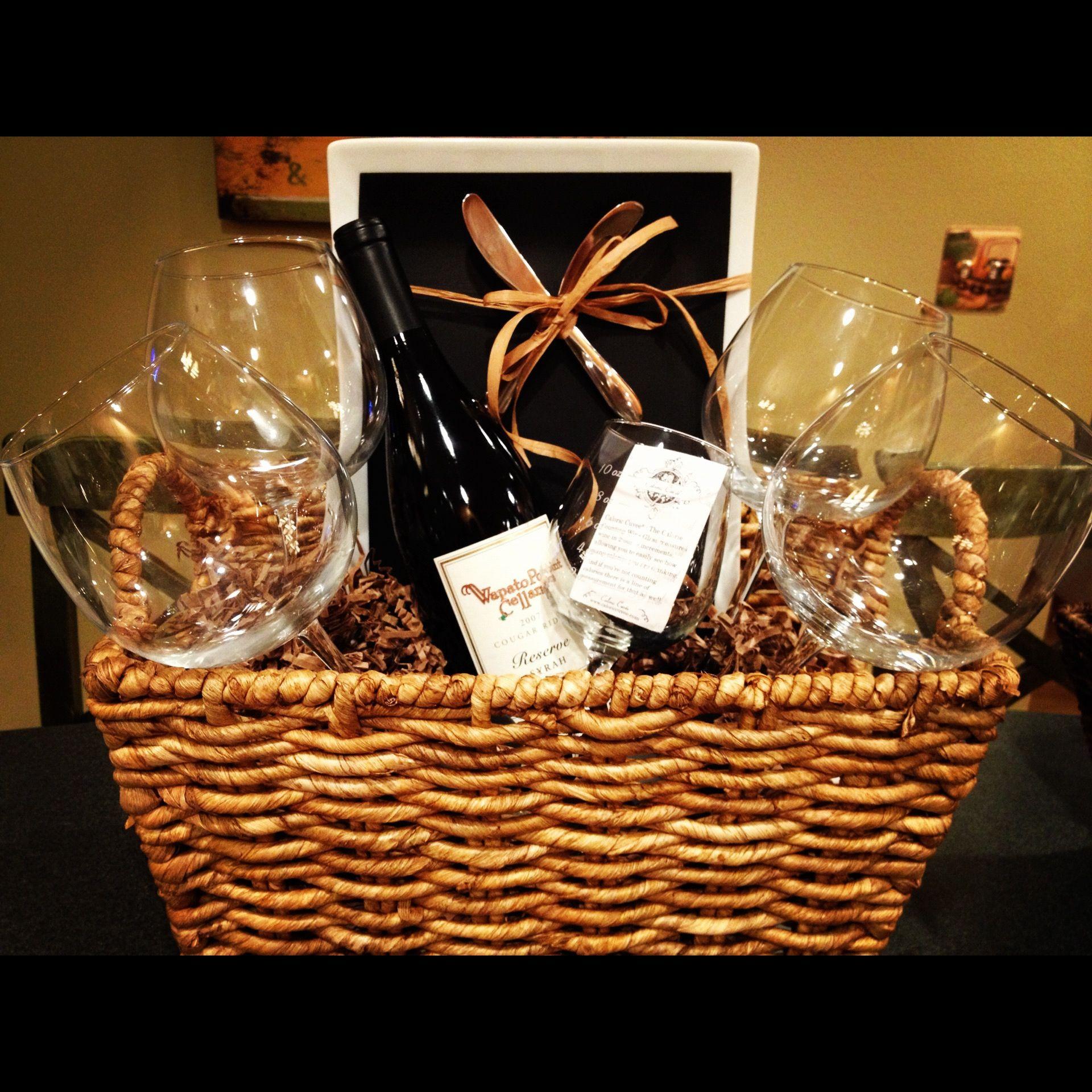 Wine Basket Gift Ideas  DIY wine t basket for shower throwers 1 or 2 bottles