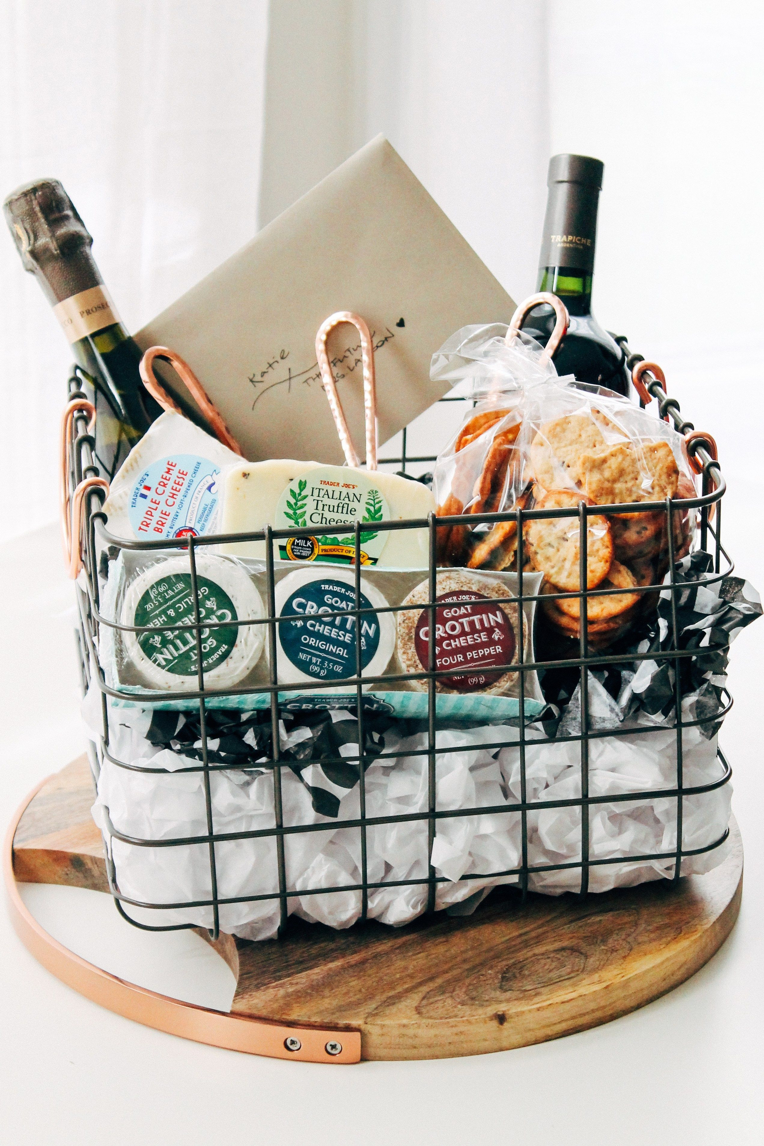 Wine Basket Gift Ideas  the ultimate cheese t basket playswellwithbutter
