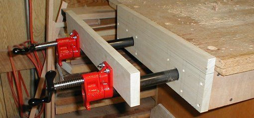 """Woodworking Vise DIY  An inexpensive way to build a """"Moxon vice"""" bench mounted"""