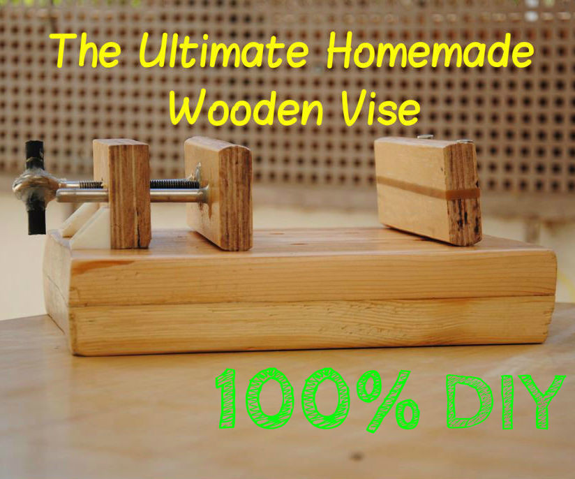 Woodworking Vise DIY  How to Build a Wooden Drill Press Vise