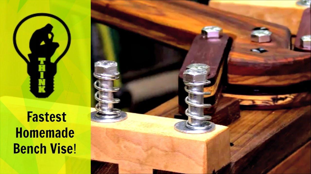 Woodworking Vise DIY  Unbelievably Fast Homemade Bench Vise