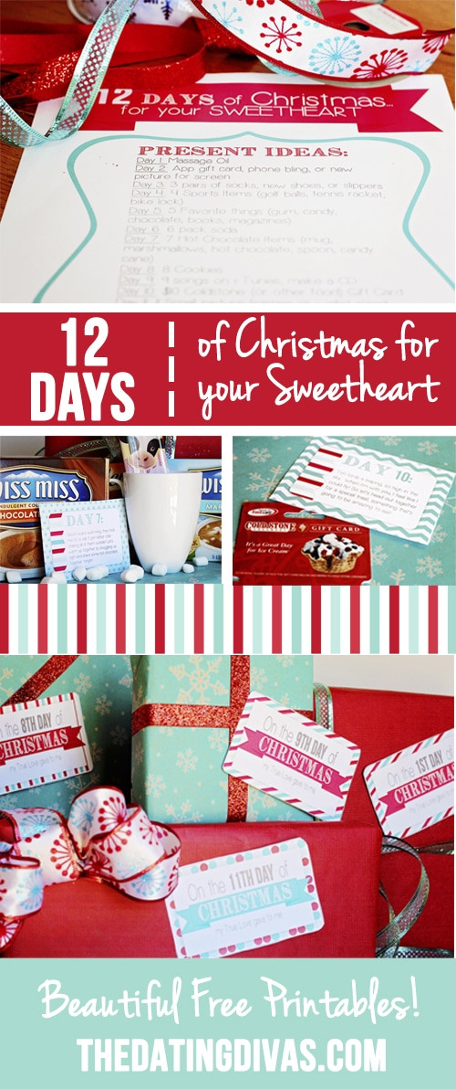 12 Days Of Christmas Gift Ideas For Friends  12 Days of Christmas Countdown for your Sweetheart