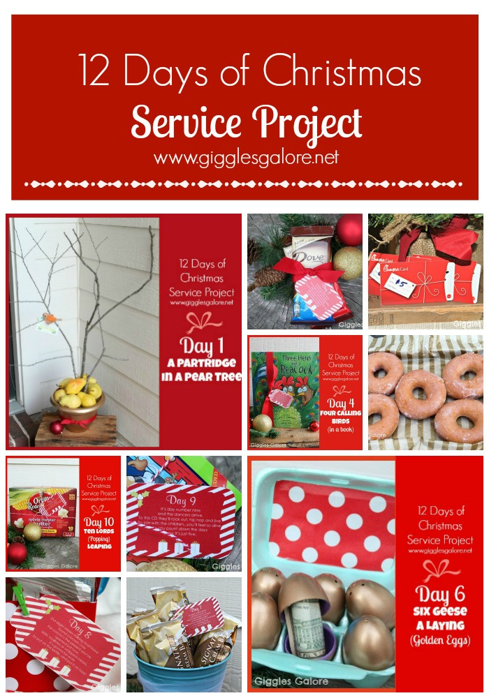 12 Days Of Christmas Gift Ideas For Friends  12 Days of Christmas Service Project