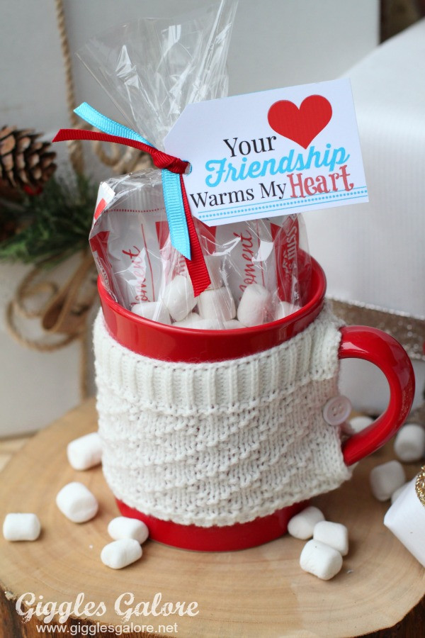 12 Days Of Christmas Gift Ideas For Friends  Friendship Warms My Heart Gift and Tag