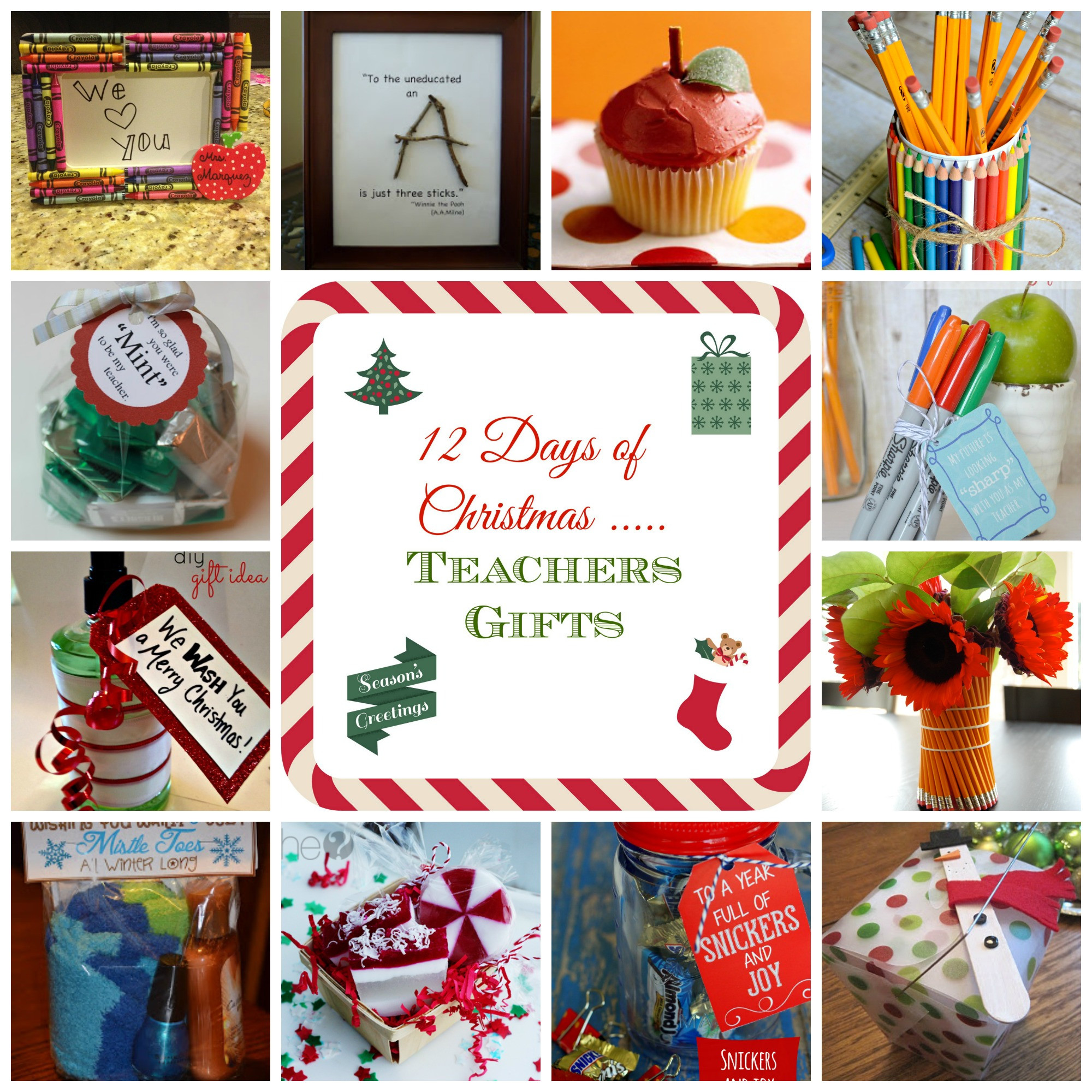 12 Days Of Christmas Gift Ideas For Friends  12 Days of Christmas Teacher Gift Ideas donnahup
