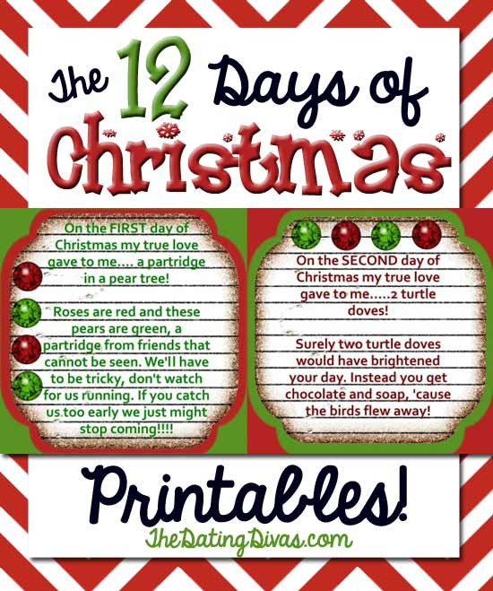 12 Days Of Christmas Gift Ideas For Friends  The 12 Days of Christmas