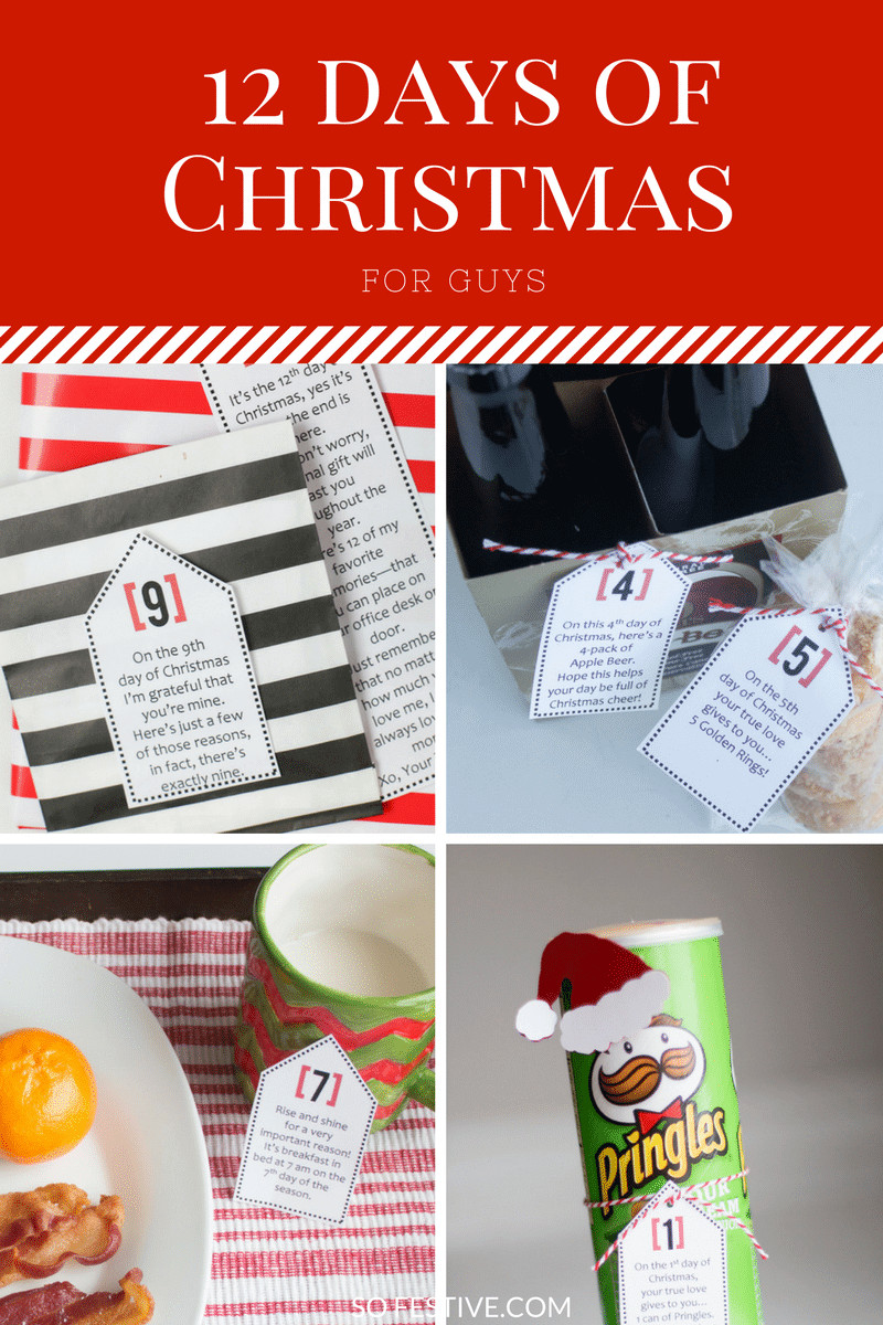 12 Days Of Christmas Gift Ideas For Friends  Simple 12 Days of Christmas For Guys So Festive