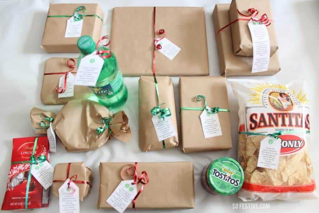 12 Days Of Christmas Gift Ideas For Friends  Easy 12 Days of Christmas Idea Printables So Festive