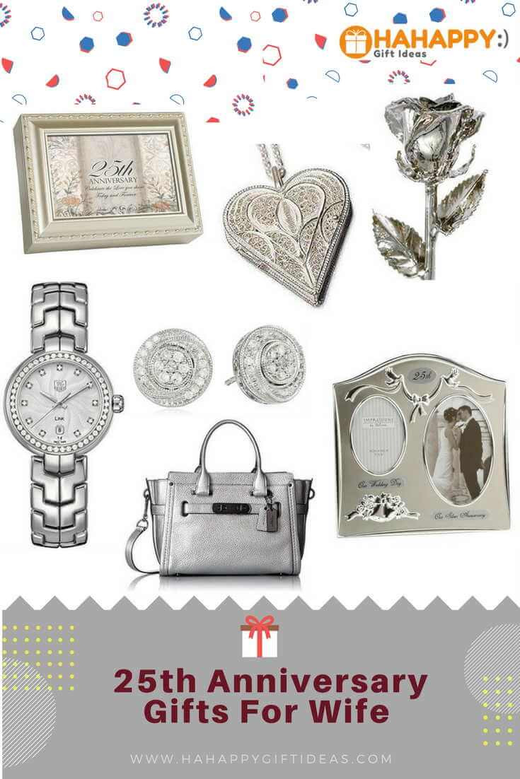 25Th Wedding Anniversary Gift Ideas For Wife  The Best Silver 25th Wedding Anniversary Gifts For Wife