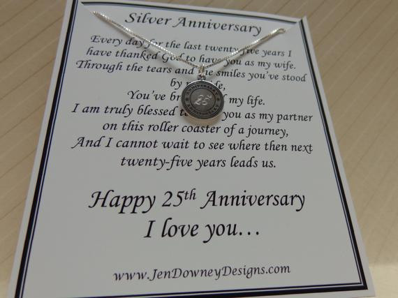 25Th Wedding Anniversary Gift Ideas For Wife  25th Wedding Silver Anniversary Gift For by BrilliantKeepsakes