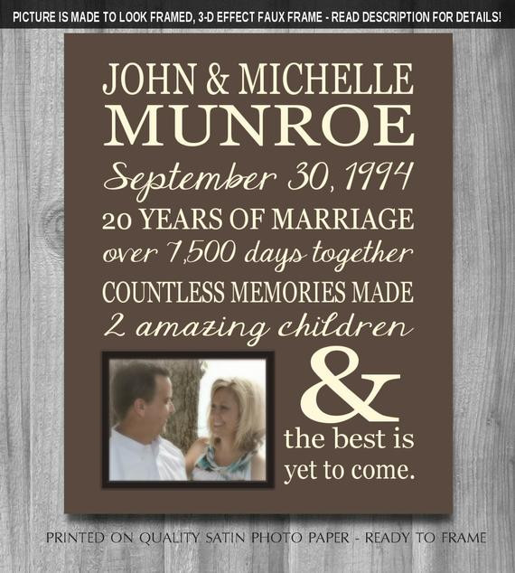 25Th Wedding Anniversary Gift Ideas For Wife  PERSONALIZED 25th Anniversary Gift for Wife Personalized Print