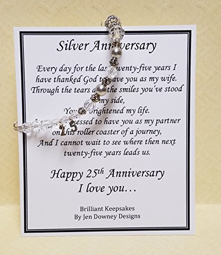 25Th Wedding Anniversary Gift Ideas For Wife  25th Wedding Anniversary Gift for Wife