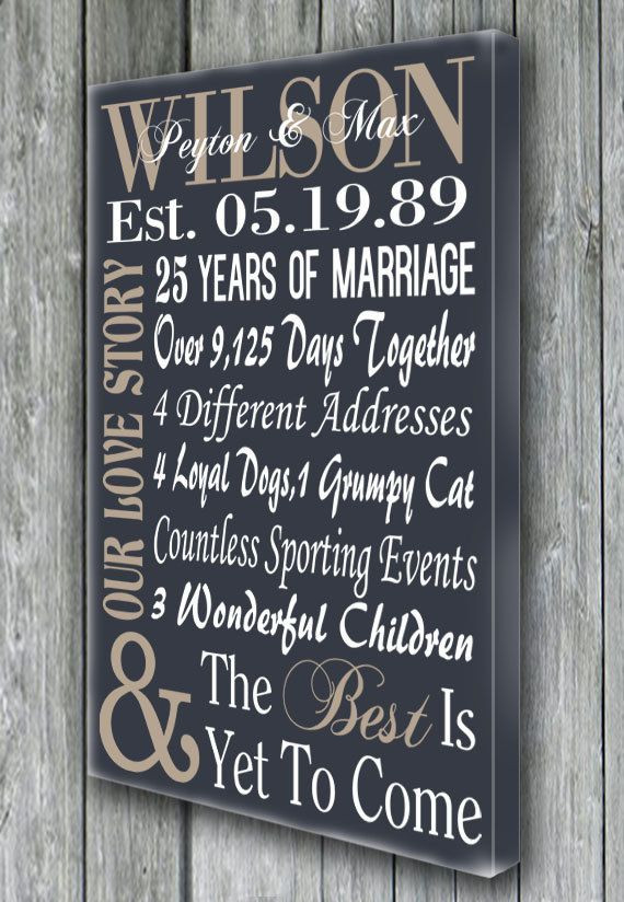 25Th Wedding Anniversary Gift Ideas For Wife  Best 25 25th anniversary ts ideas on Pinterest