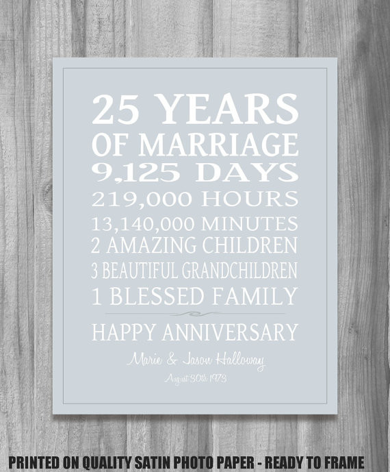 25Th Wedding Anniversary Gift Ideas For Wife  25th Anniversary For Husband Quotes QuotesGram