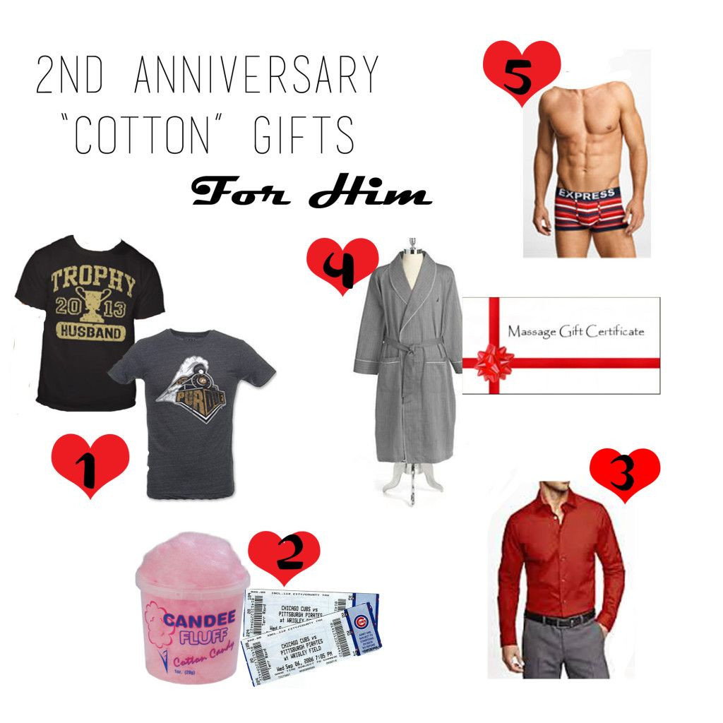 """2Nd Anniversary Gift Ideas For Him  2nd Anniversary """"Cotton"""" Gift Guide For Him love the"""