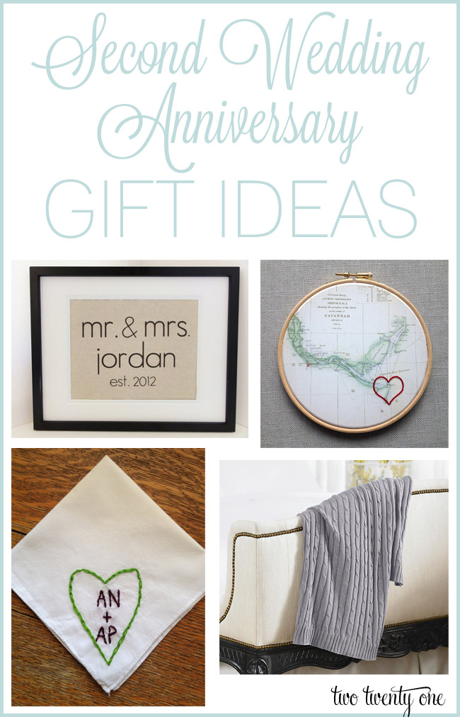 2Nd Anniversary Gift Ideas For Him  Second Anniversary Gift Ideas
