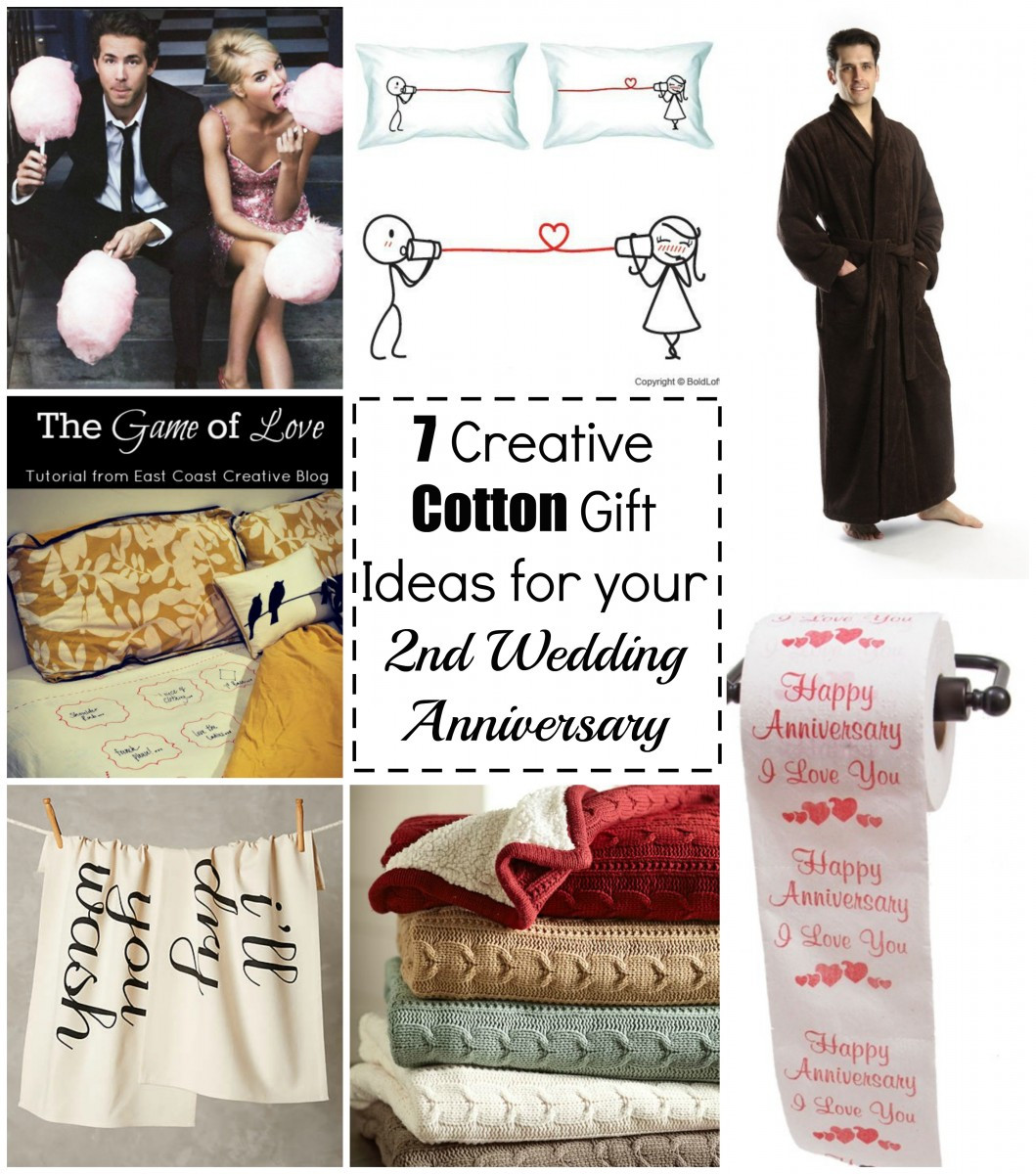 2Nd Anniversary Gift Ideas For Him  7 Cotton Gift Ideas for your 2nd Wedding Anniversary