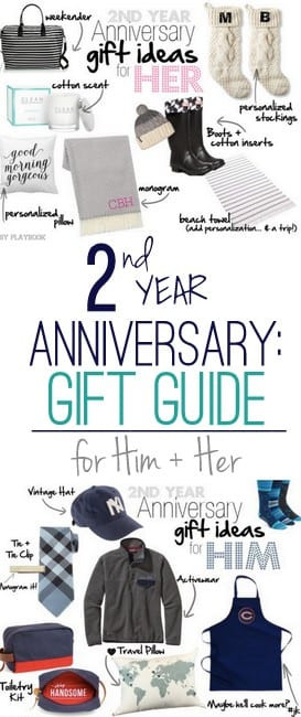 2Nd Anniversary Gift Ideas For Him  2nd Anniversary Gift Ideas for Him and Her