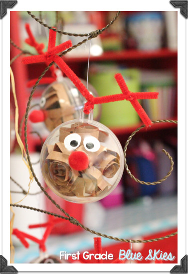 2Nd Grade Christmas Party Ideas  Christmas Crafts in the Classroom Reindeer Ornaments