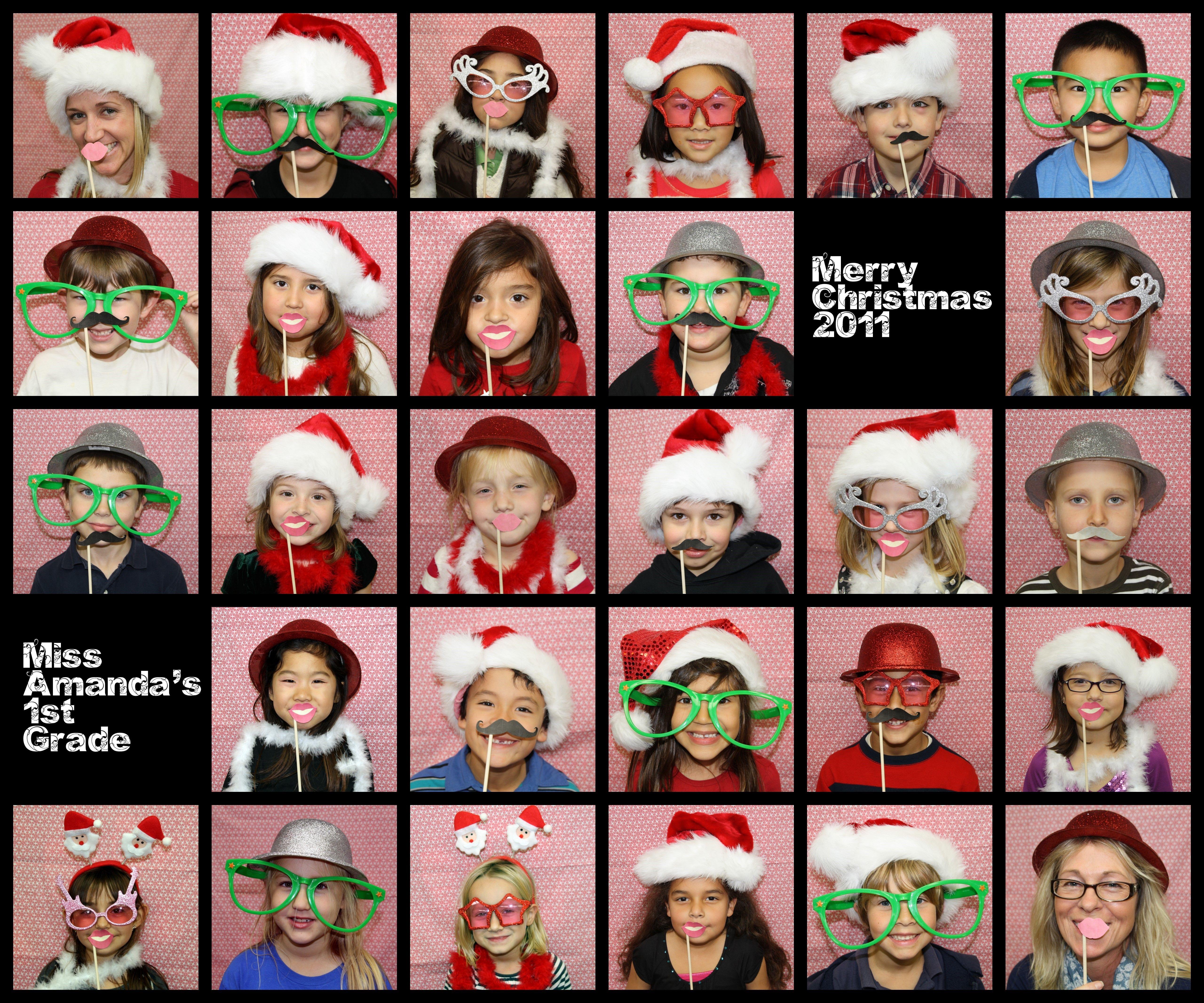 2Nd Grade Christmas Party Ideas  1st grade class christmas party photo booth photobooth