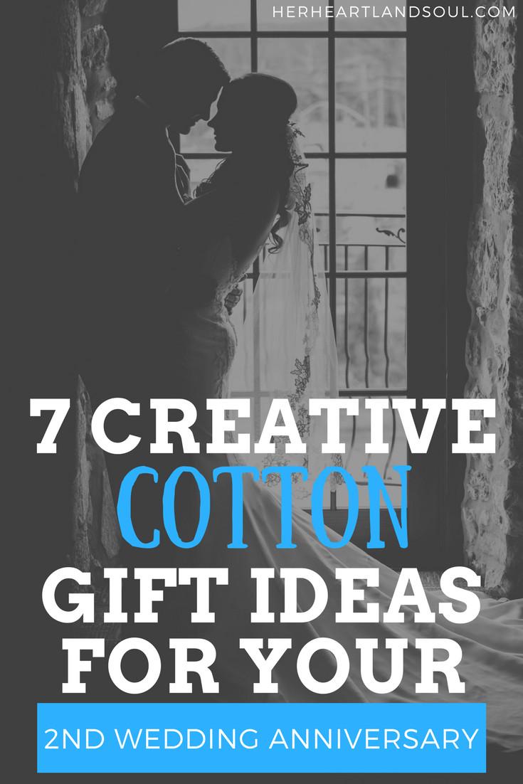 2Nd Wedding Anniversary Gift Ideas  7 Creative Cotton Gift Ideas for your 2nd Wedding Anniversary